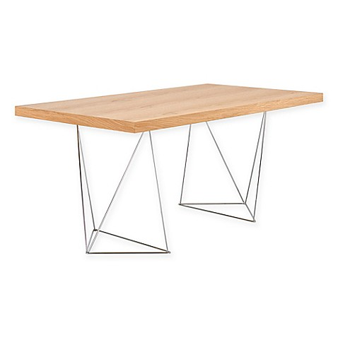 image of Tema Multi Table with Chrome Trestle Legs