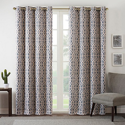 Buy Intelligent Design Rex 63 Inch Room Darkening Grommet Top Window Curtain Panel In Grey From