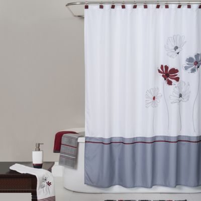 Saturday Knight Scarlet Floral Shower Curtain