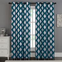 VCNY Home Sorrento 84-Inch Grommet Top Window Curtain Panel Pair in Blue