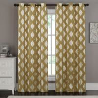 VCNY Home Sorrento 84-Inch Grommet Top Window Curtain Panel Pair in Gold