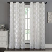 VCNY Home Sorrento 84-Inch Grommet Top Window Curtain Panel Pair in White