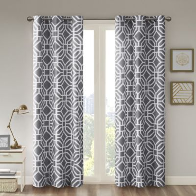 Intelligent DesignTM Maci 63 Inch Room Darkening Grommet Top Window Curtain Panel In Grey