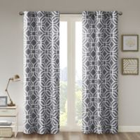 Intelligent Design™ Maci 84-Inch Room Darkening Grommet Top Window Curtain Panel in Grey