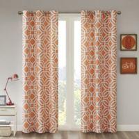 Intelligent Design™ Maci 84-Inch Room Darkening Grommet Top Window Curtain Panel in Orange