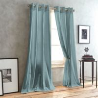 DKNY City Line 63-Inch Grommet Top Window Curtain Panel in Aquamarine