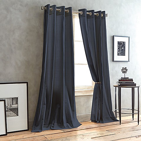 Buy dkny city line grommet top window curtain panel from for Best place to buy fabric for curtains
