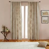 India's Heritage Empress 84-Inch Rod Pocket/Back Tab Window Curtain Panel in Natural