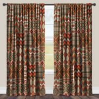 Laural Home Country Mood 84-Inch Room-Darkening Rod Pocket Window Curtain Panel in Red
