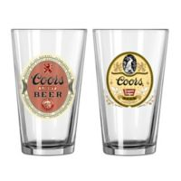 Coors Light Retro Light Beer and Export Lager Pint Glasses (Set of 2)