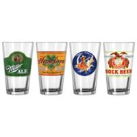 Miller Retro Variety Pint Glasses (Set of 4)