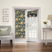 Waverly Sanctuary Rose 68-Inch French Door Panel in Heritage Blue