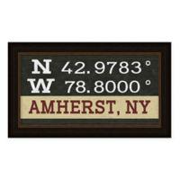 Amherst Coordinates Framed Wall Art