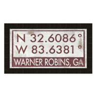Warner Robbins Georgia Coordinates Framed Wall Art