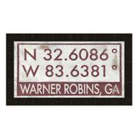 Warner Robbins Georgia Coordinates Framed Wall Art