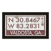 Valdosta Georgia Coordinates Framed Wall Art