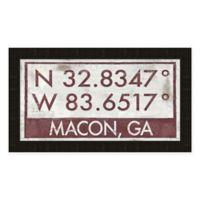 Macon Georgia Coordinates Framed Wall Art