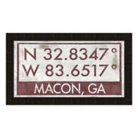 Macon Georgia Coordinates Framed Wall Art