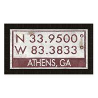 Athens Georgia Coordinates Framed Wall Art