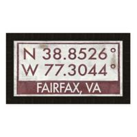 Fairfax, Virginia Coordinates Framed Wall Art