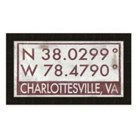 Charlottesville, Virginia Coordinates Framed Wall Art