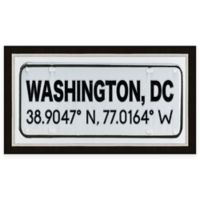 Washington DC Coordinates Framed Wall Art