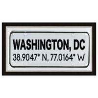 Washington DC Coordinates Framed Wall Art