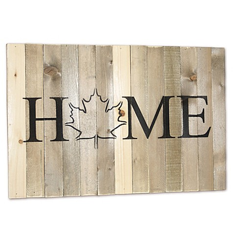 Sweet Bird Co Wooden Home State Canada Wall Art Bed Bath Beyond