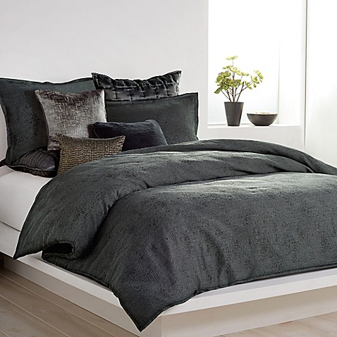 dkny gotham comforter in charcoal - bed bath & beyond