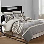 Bridge Street Warwick Textured Cotton Linen 8-Piece Queen Comforter Set in Natural