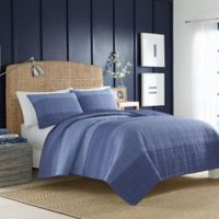 Nautica® Riverview Full/Queen Quilt in Dark Blue