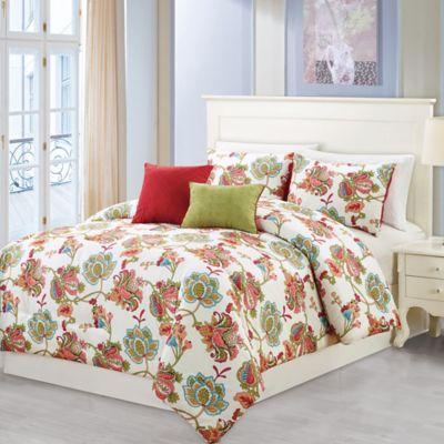 wissler 5piece king comforter set in redsage