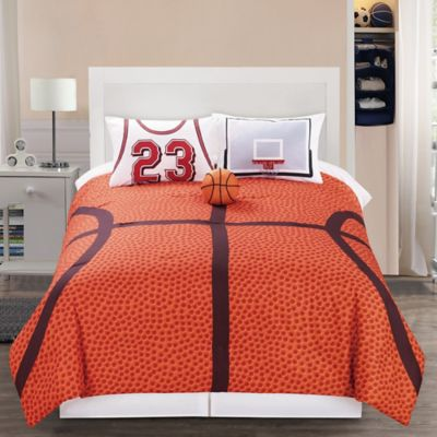 Bon B Ball 4 Piece Reversible Full Comforter Set In Orange