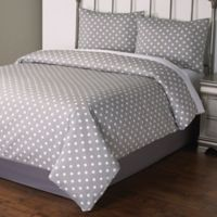 Dotty 2-Piece Twin Comforter Set in Grey