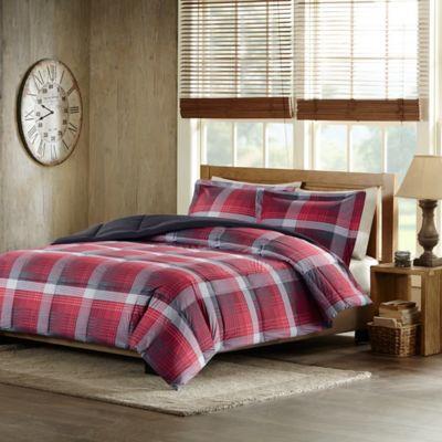 woolrich terrytown fullqueen comforter set in red - Plaid Comforter