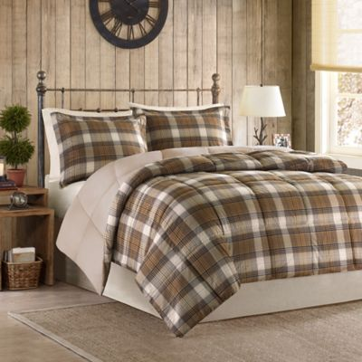 woolrich lumberjack twin comforter set in brown