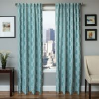 Softline Booker 84-Inch Embroidered Grommet Top Window Curtain Panel in Spa White