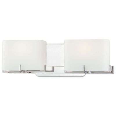 Buy bathroom light bars from bed bath beyond george kovacs curvy corner 2 light bath bar with chrome finish mozeypictures Image collections
