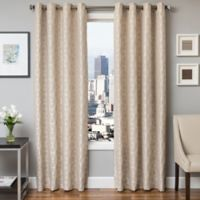 Softline Dante 84-Inch Jacquard Grommet Top Window Curtain Panel in Natural