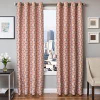 Softline Dante 84-Inch Jacquard Grommet Top Window Curtain Panel in Orange