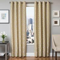 Softline Dante 84-Inch Jacquard Grommet Top Window Curtain Panel in Apple Green