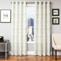 Softline Esperanza 96-Inch Grommet Top Window Curtain Panel in Celadon