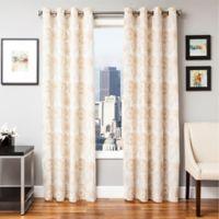 Softline Esperanza 96-Inch Grommet Top Window Curtain Panel in Champagne