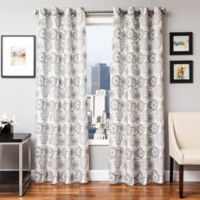 Softline Esperanza 84-Inch Grommet Top Window Curtain Panel in Silver