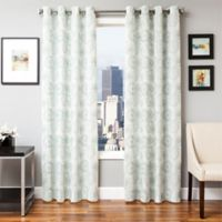 Softline Esperanza 84-Inch Grommet Top Window Curtain Panel in Spa