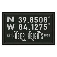 Huber Heights Ohio Coordinates Framed Wall Art