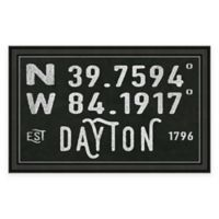 Dayton Ohio Coordinates Framed Wall Art