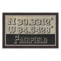 Fairfield Ohio Coordinates Framed Wall Art