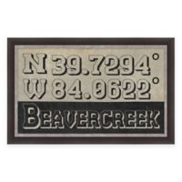Beavercreek Ohio Coordinates Framed Wall Art