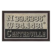 Centerville Ohio Coordinates Framed Wall Art